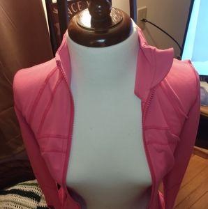 Lululemon Pink Athletic Zip up Top